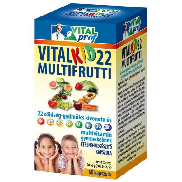 Vitalkid22 Multifrutti iskolás gyerekeknek kapszula 60x